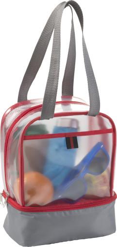 Werbeartikel Imbiss-Tasche Tansparent mit Kühlfach