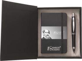 Werbeartikel Charles Dickens Schreibset Notebook A6