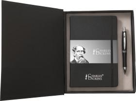 Werbeartikel Charles Dickens Schreibset Notebook A5