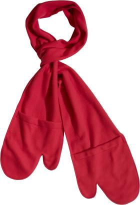 Werbeartikel 2-in-1 Schal mit Handschuhen