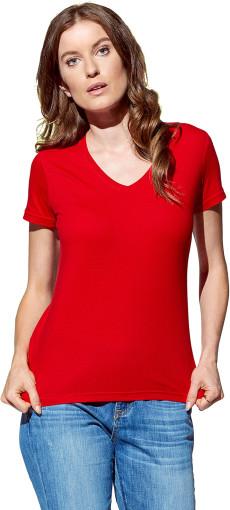 Werbeartikel Stedman Classic V-Ausschnitt T-Shirt for her