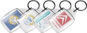 Werbeartikel Transparenter Schlüsselanhänger Crystal