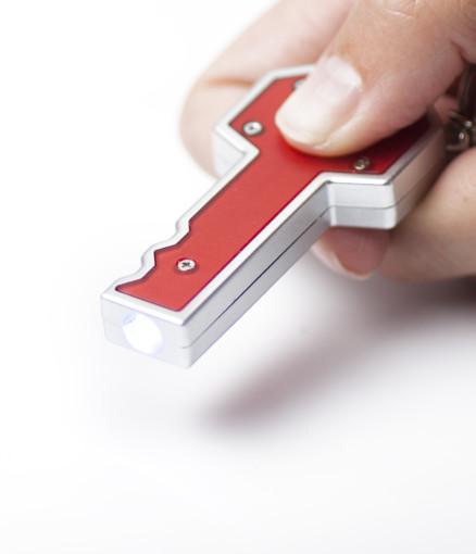 Werbeartikel Schlüsselanhänger Key mit Lämpchen bedrucken