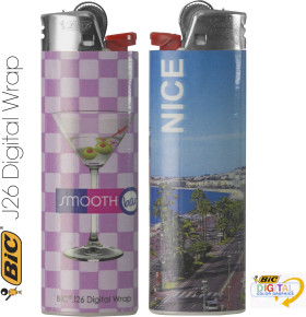Werbeartikel Bic Maxi Feuerzeug Digital Wrap