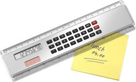 Werbeartikel Lineal 20 cm mit Taschenrechner