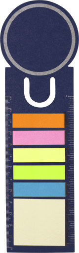 Werbeartikel Lesezeichen mit selbstklebenden Memozetteln