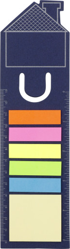 Werbeartikel Lesezeichen Haus mit Sticky Notes