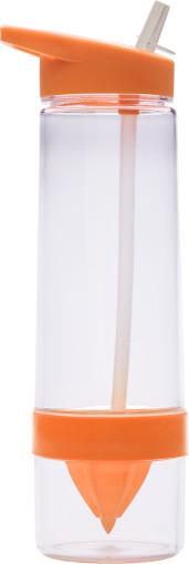 Werbeartikel Wasserflasche Tritan mit Zitruspresse