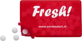 Werbeartikel Mint-Karte mit zuckerfreiem Pfefferminz
