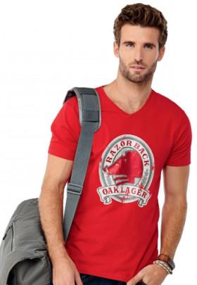 Werbeartikel Kawarta T-Shirt mit V-Ausschnitt