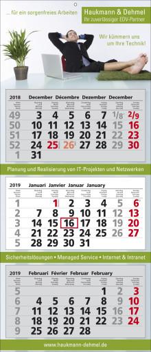 Werbeartikel 3-Monats-Wandkalender Classic 3