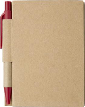 Werbeartikel Notizbuch Eco mit Stift