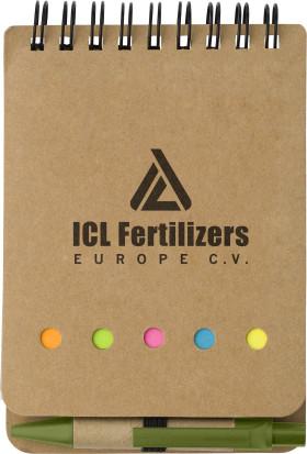 Werbeartikel Öko-Notizblock mit Stift