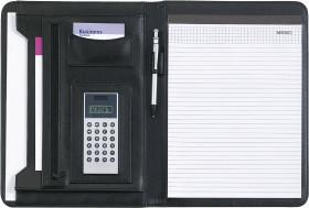Werbeartikel A4 Schreibmappe mit Dual Power Rechner