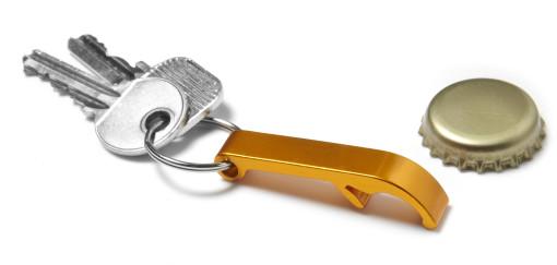 Werbeartikel Flaschenöffner mit Schlüsselring bedrucken
