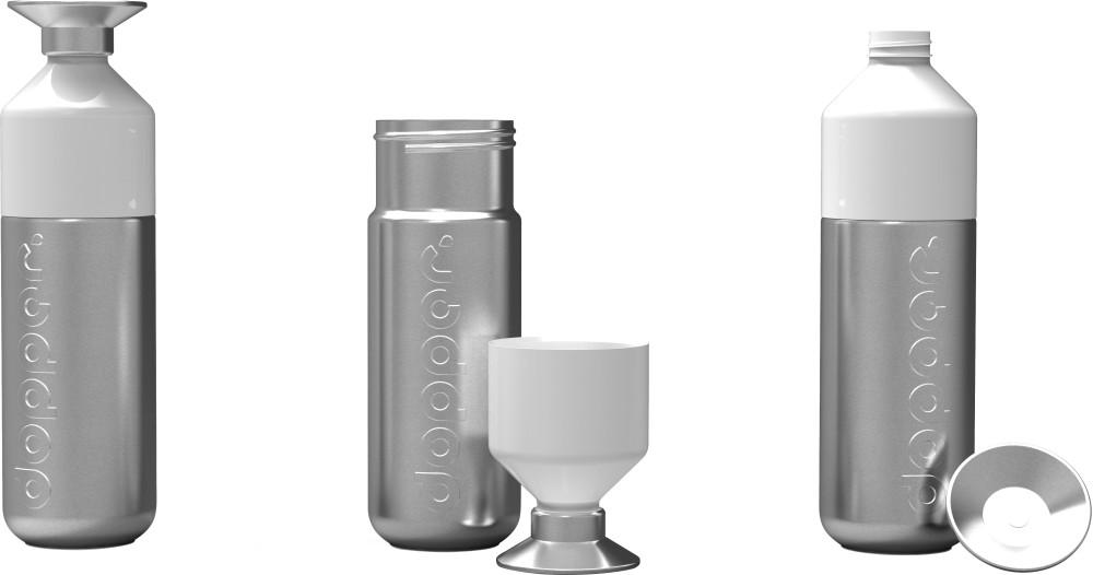 werbeartikel dopper steel trinkflasche mit logo bedruckt. Black Bedroom Furniture Sets. Home Design Ideas