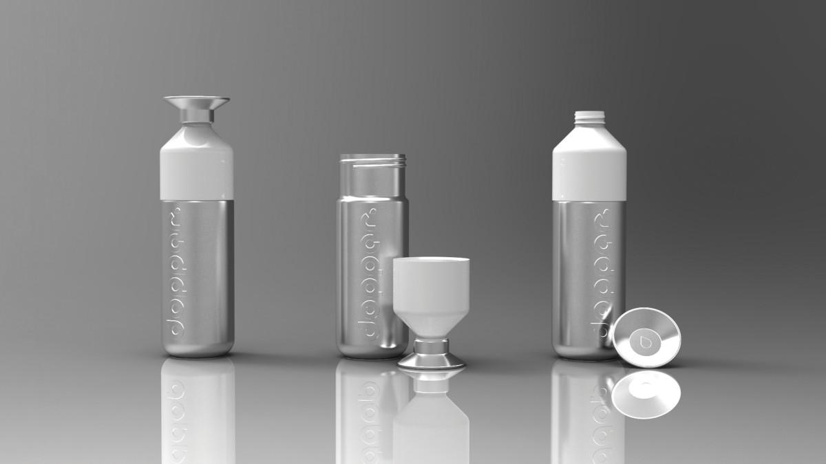 dopper steel trinkflasche mit logo bedruckt vh werbeartikel. Black Bedroom Furniture Sets. Home Design Ideas